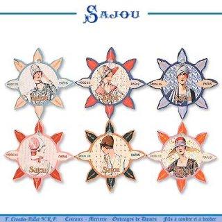 糸巻き フランス SAJOU (糸巻き6ヶセット)【CF-13 DEAUVILL】
