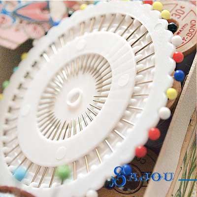 フランス SAJOU カラフルガラスビーズ まち針セット【PINS-1 】【画像4】