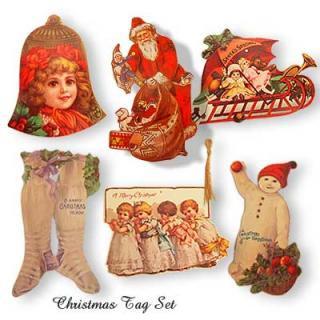 アメリカ 雑貨  USA クリスマスギフトタグ 6種類セット 【1982 B.Shackman & Co. Inc.,】
