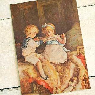 ビクトリアン イギリスポストカード (Cat's cradle)