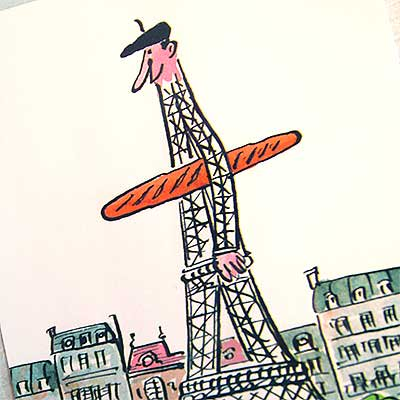 フランス エッフェル塔 ポストカード (Monsieur de la tour eiffel A)【画像3】