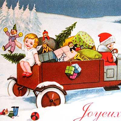 フランス クリスマス ポストカード (Joyeux Noel H)【画像3】