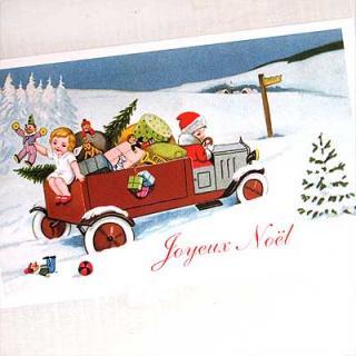 フランス クリスマス ポストカード (Joyeux Noel H)