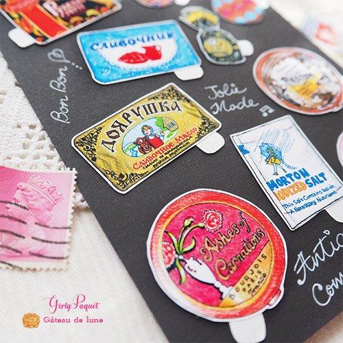 Gateau de lune シールset【Girly Paquet】【画像4】
