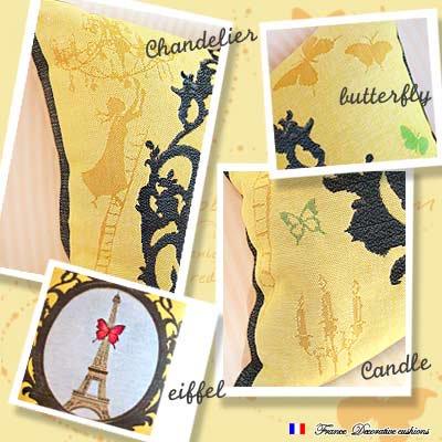 フランス製 エッフェル塔 ゴブランクッションカバー 48cm角【ART de LYS アート・デ・リース】【画像3】