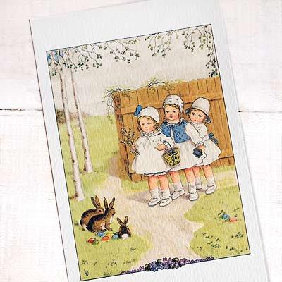 フランス イースター 復活祭 ポストカード (Paques G)