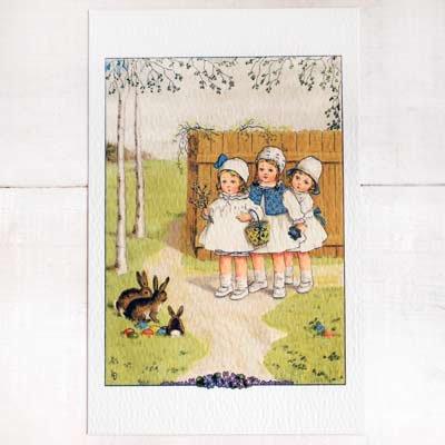 フランス イースター 復活祭 ポストカード (Paques G)【画像2】