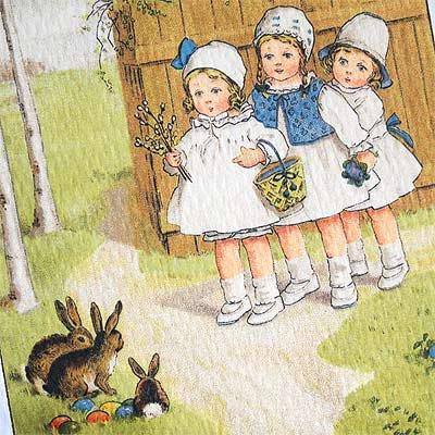 フランス イースター 復活祭 ポストカード (Paques G)【画像3】