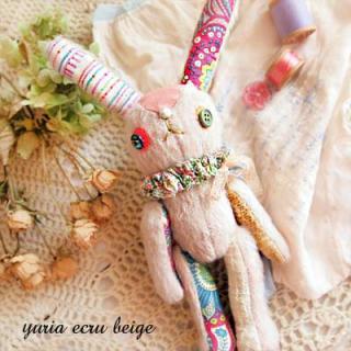 Creators/ハンドメイド エクリュベージュバニー A 【Ecru-Beige bunny】〜yuria手芸店