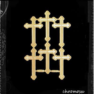 ドイツ Dresden ドレスデンペーパー 【十字架・クロス Lサイズ(単品パーツ売り)】【画像2】