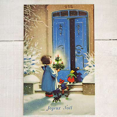 フランス クリスマス ポストカード (Joyeux Noel I )【画像2】
