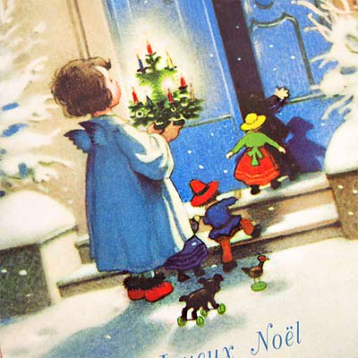 フランス クリスマス ポストカード (Joyeux Noel I )【画像3】