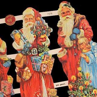クリスマス ドイツ クロモス【M】<サンタのプレゼント>