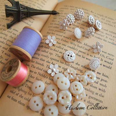 Dress It Up ボタン&パーツSet(Heirloom Collection)【画像4】