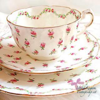 陶器 食器 イギリス BONE CHINA アンティークカップ・トリオ【AYNSLEY】