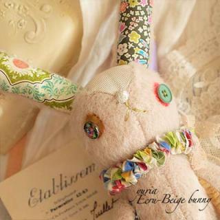 うさぎ ウサギ ラビット 雑貨 エクリュベージュバニー B (24.5cm)【Ecru-Beige bunny】〜yuria手芸店