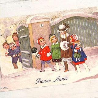 あけましておめでとう フランスポストカード (Bonne Annee D)