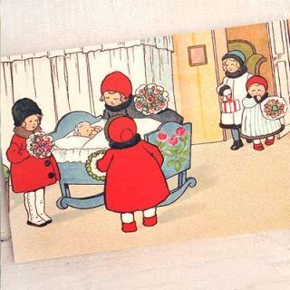 ポストカード/絵本・挿絵 系 フランスポストカード (Felicitations A)