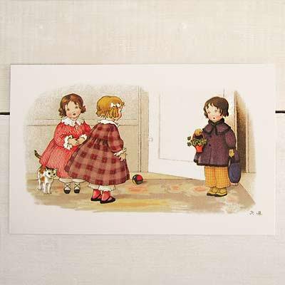 フランスポストカード 訪問 犬(Bienvenue B)【画像2】
