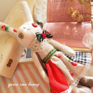 Creators/ハンドメイド ローズバニー (30.5cm)【rose bunny】〜yuria手芸店