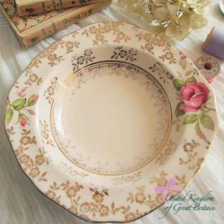 陶器 食器 イギリス ヴィンテージ ディープディッシュ(深皿)【Hollinshead & Kirkham】