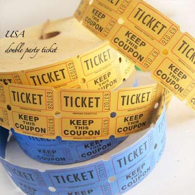 USA パーティー ダブル ロール チケット 【20枚セット】【画像2】