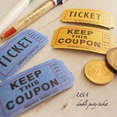 USA パーティー ダブル ロール チケット 【20枚セット】【画像3】