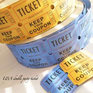 味紙 ラベル チケット 伝票 USA パーティー ダブル ロール チケット 【20枚セット】