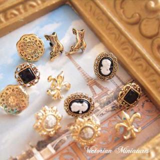 輸入 ボタン Dress It Up ボタン&パーツSet(Victorian Miniatures ビクトリアンミニチュア)