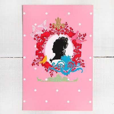 フランスポストカード マリー・アントワネット (Profil fantaisie de Marie-Antoinette)【画像2】