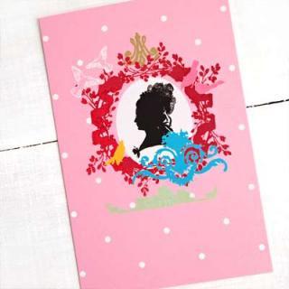 ポストカード/フレンチ フランスポストカード マリー・アントワネット (Profil fantaisie de Marie-Antoinette)