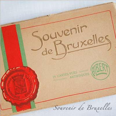ベルギー ヴィンテージ ポストカード【ブリュッセルからのお土産 souvenir スーベニール】