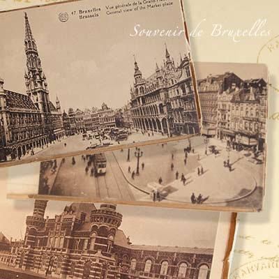 ベルギー ヴィンテージ ポストカード【ブリュッセルからのお土産 souvenir スーベニール】【画像2】