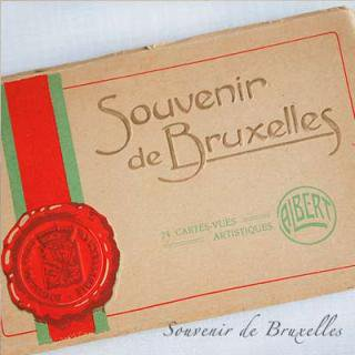 ポストカード ベルギー ヴィンテージ ポストカード【ブリュッセルからのお土産 souvenir スーベニール】
