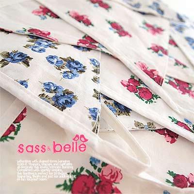 イギリス sass & belle ヴィンテージファブリック ガーランド【twin rose】【画像2】