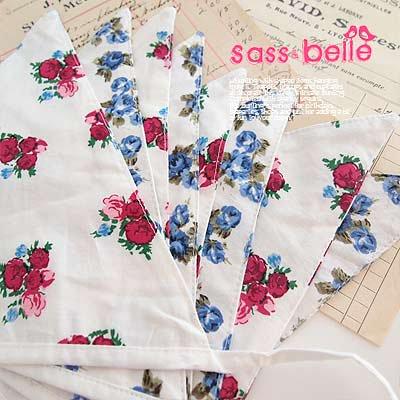 イギリス sass & belle ヴィンテージファブリック ガーランド【twin rose】【画像3】