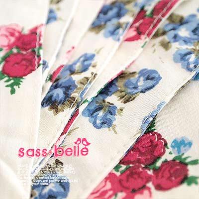 イギリス sass & belle ヴィンテージファブリック ガーランド【twin rose】【画像4】