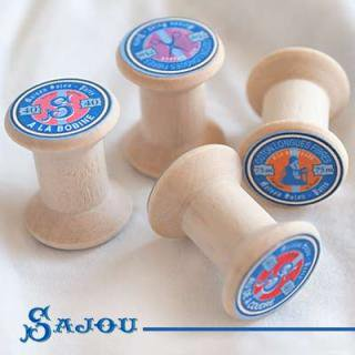 糸巻き フランス SAJOU (木製ボビン 糸巻き)【BOB-1】