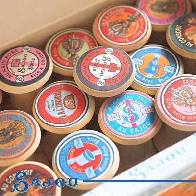 フランス SAJOU (木製ボビン 糸巻き BOX 15ケセット)【BOB-8】【画像2】