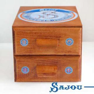 裁縫箱 【送料無料】フランス SAJOU (引き出し 2段)