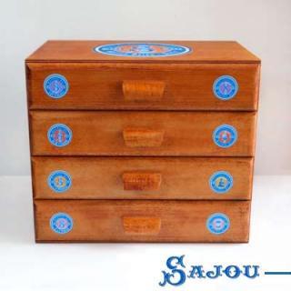 裁縫箱 【送料無料】フランス SAJOU (引き出し 4段)