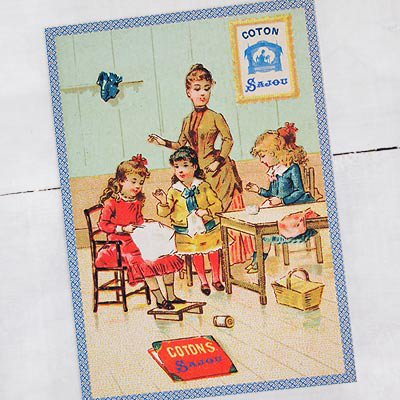 フランス SAJOU ポストカード【cpu-5 cpucoton】【画像2】
