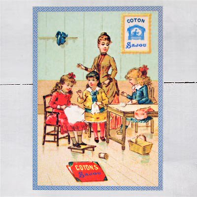 フランス SAJOU ポストカード【cpu-5 cpucoton】【画像3】