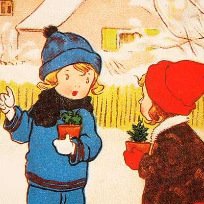 フランスポストカード (Plante en pot)