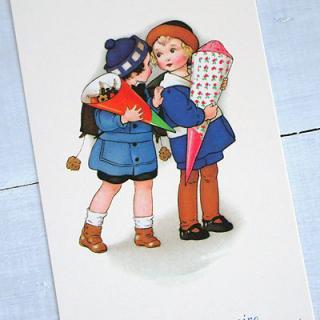 バースディー フランスポストカード (Joyeux anniversaire S)