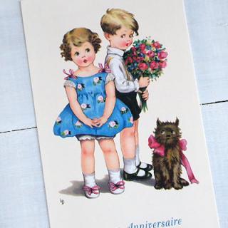 バースディー フランスポストカード (Joyeux anniversaire M)