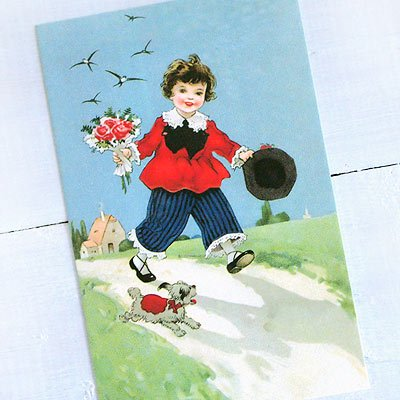フランスポストカード (Bouquet et le ciel bleu)