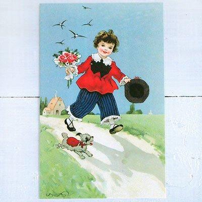 フランスポストカード (Bouquet et le ciel bleu)【画像2】