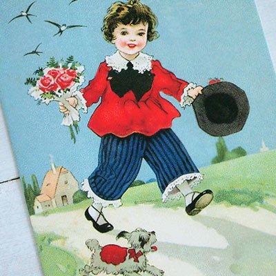 フランスポストカード (Bouquet et le ciel bleu)【画像3】