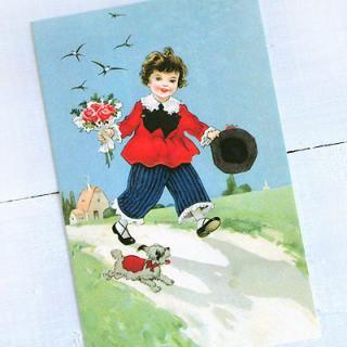 ポストカード/絵本・挿絵 系 フランスポストカード (Bouquet et le ciel bleu)